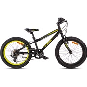 "FatBoy 20"" MTB 7-speed sort/gul"