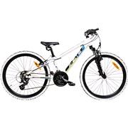 """Mountainbike 24"""" 24.21 21-gear hvid/grøn"""
