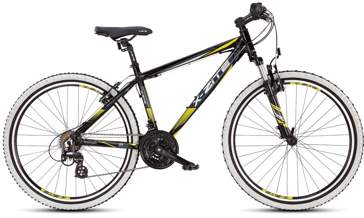 """Mountainbike 26"""" 26.21 21-gear sort/gul 42cm."""