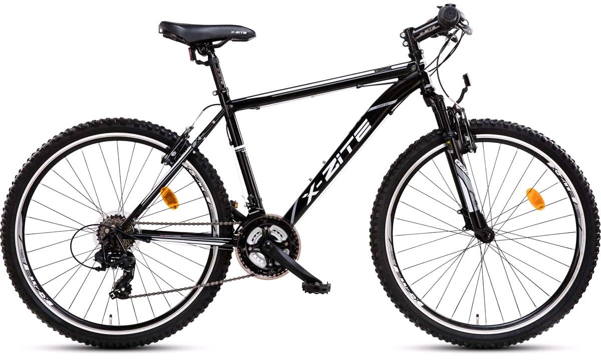 """Mountainbike 26"""" 1621 21-gear sort 46cm"""