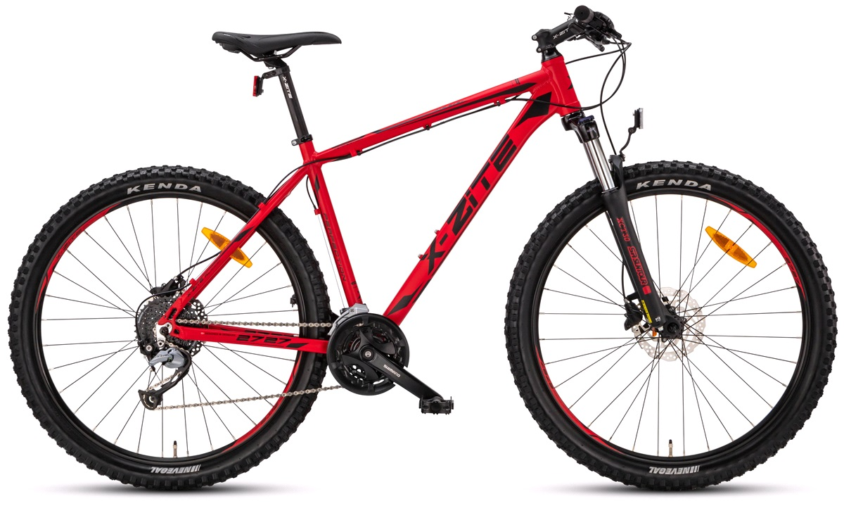 "Mountainbike 2727 27,5"" 27-gear matrød 48cm"
