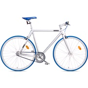 Fixie bike 57 cm sølv/blå