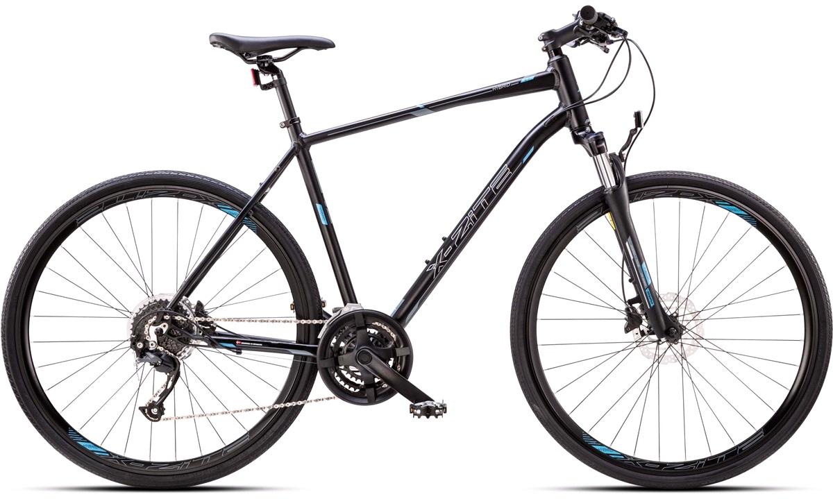 Hybrid cykel herre 27-gear suspension forgaffel 54cm
