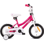 "Pigecykel 12"" pink/hvid Butterfly"