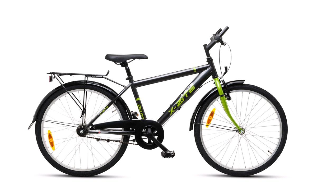 """Drengecykel 24"""" 3-gear 24.03 koksgrå/grøn"""