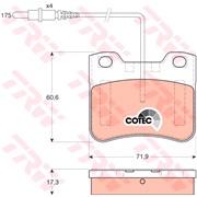 Bremseklodssæt - COTEC - (TRW)