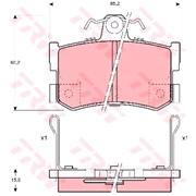 Bremseklodssæt - (TRW)