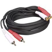 Phono forlæng.kabel 2 stik 2 udtag 5M