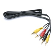 Audio/video kabel 2x3,5 til 3xphono