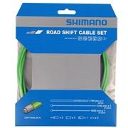 Gearkabelsæt Shimano PTFE grøn rustfri