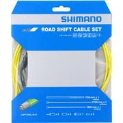 Gearkabelsæt Shimano PTFE gul rustfri