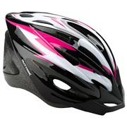 Cykelhjelm sort/pink/hvid junior 52-55