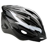 Cykelhjelm sort/grå/hvid junior 52-55