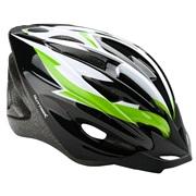 Cykelhjelm sort/grøn/hvid junior 52-55