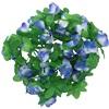 Blomsterkrans til cykelkurv lilla