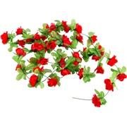 Blomsterkrans til cykelkurv rød