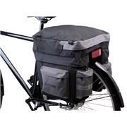 Cykeltaske 3 delt sort/grå Outtrek