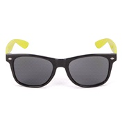 Solbrille Wayfarer m. gule stænger