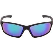 Sportbrille sort rubber grønt spejl