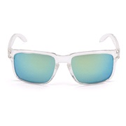 Solbrille transp. glas m/gul revospejl