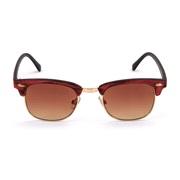 Solbrille clubmaster trælook brune glas