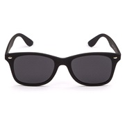 Solbrille flad Wayfarer med mørke glas