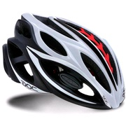 Cykelhjelm SELEV DOC hvid/sort/rød 56-60