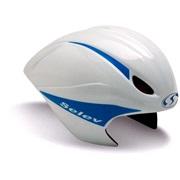 Selev trial cykelh TT EVO hvid/blå 54-59