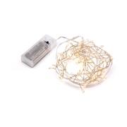 Lyskæde 100 LED sølvtråd (bruger 2xAA)
