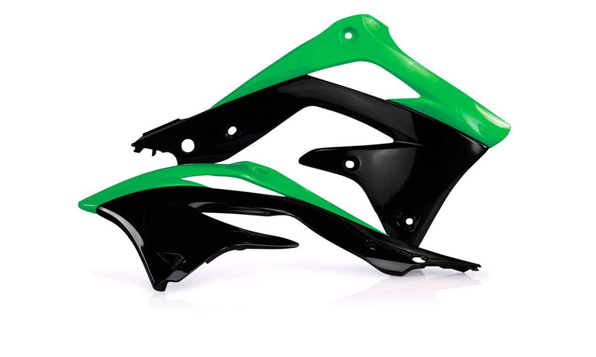 Kølerskjolde grøn/sort, KX450F 12-15