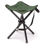 Campingtaburet, sammenfoldelig,grøn/sort