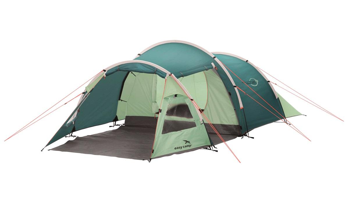 Telt, Easy Camp Spirit 300, 3-personers, Petroliums grøn