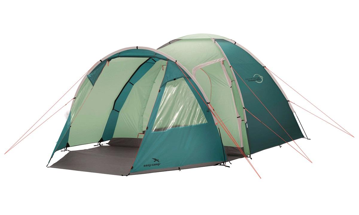 Telt, Easy Camp Eclipse 500 5-personers, Petroliums grøn