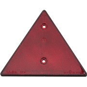 Trekantrefleks rød 70mm m/skruehuller