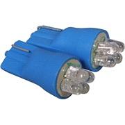 Pæresæt, W5W, 4 LED blå