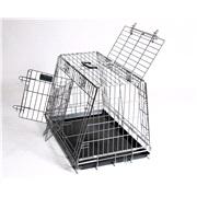 Transportbur t/hund, skråside, delbar XL