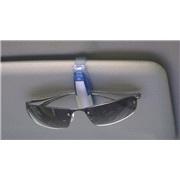 Clips til solbriller sølv/blå