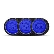 Termometer med 3 display ind/ud/tid/dato