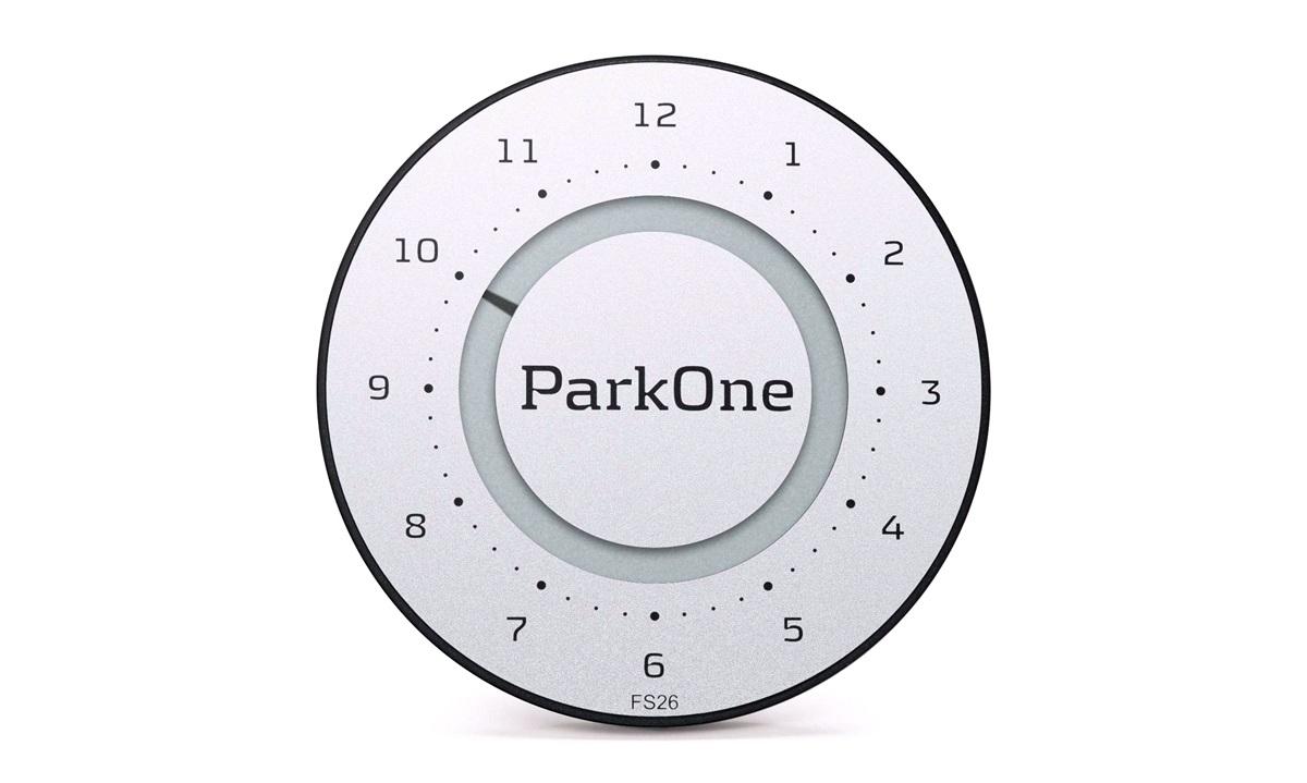Elektronisk p-skive ParkOne 2 Titanium Silver