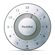 Elektronisk P-skive ParkOne Børstet stål