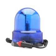 Roterende advarselslys, blå, 12V