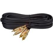 Phonokabel sæt, black LUX, 5M