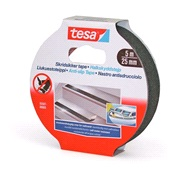 TESA, Skridsikker tape, sort,25mm x 5mtr
