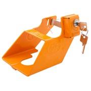 Trailerlås med indbygget lås orange