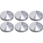 Chrome pynteknapper med tape 6 x 20 mm