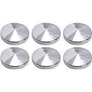 Chrome pynteknapper med tape 6 x 23 mm