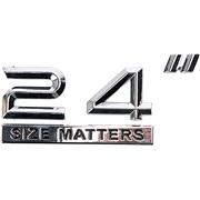"Chrom emblem 24"" SIZE MATTERS"