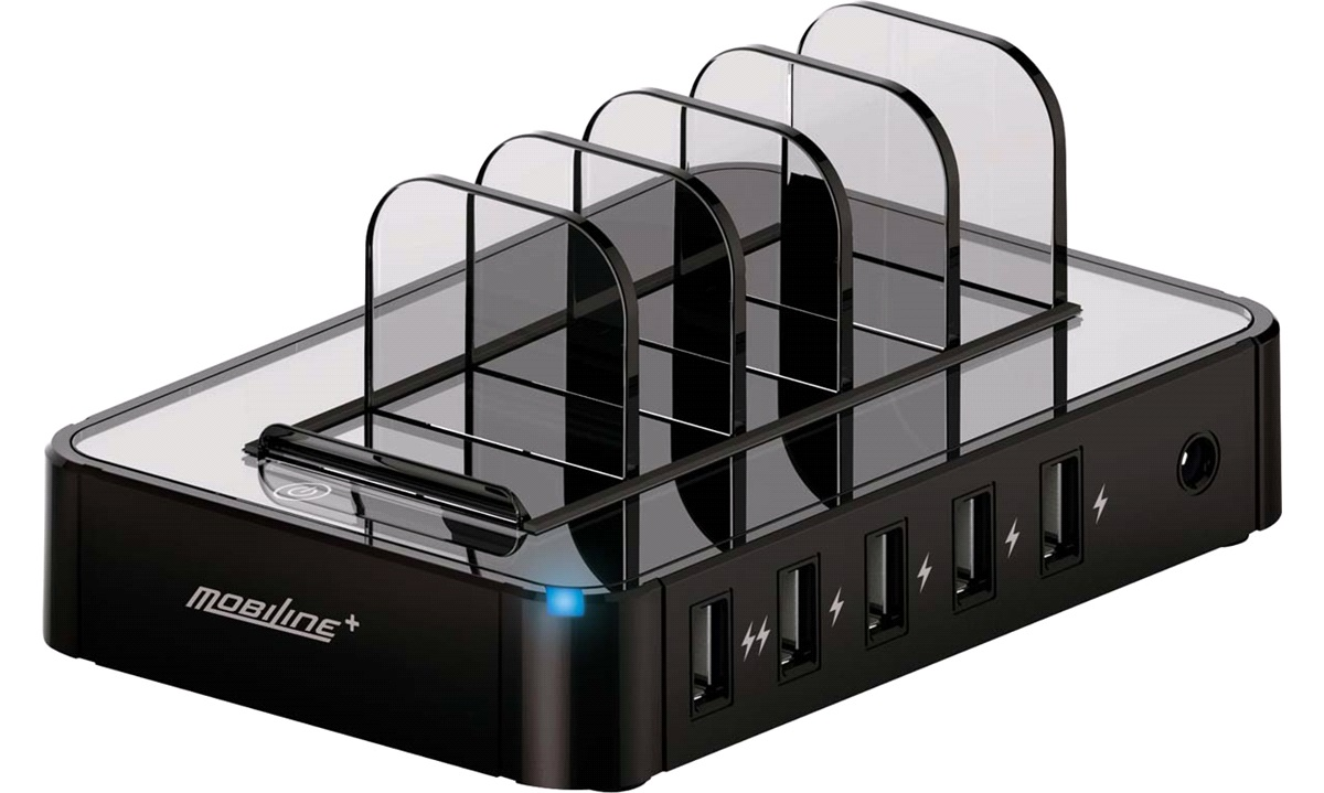 230V USB 5-ports ladestation MOBILINE