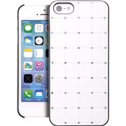 Cover hvid med rhinestone iPhone 5/5S/SE