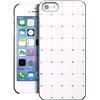 Cover hvid med rhinestone iPhone 5/5S/SE